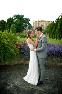 bride and groom sherborne pagenant gardens