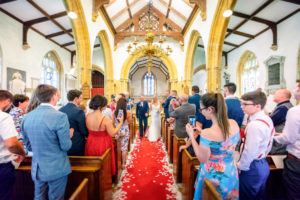 A wedding at All saints church in Merriott Somerset