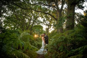 Wedding Photographer Yeovil Somerset - Bride and Groom forest