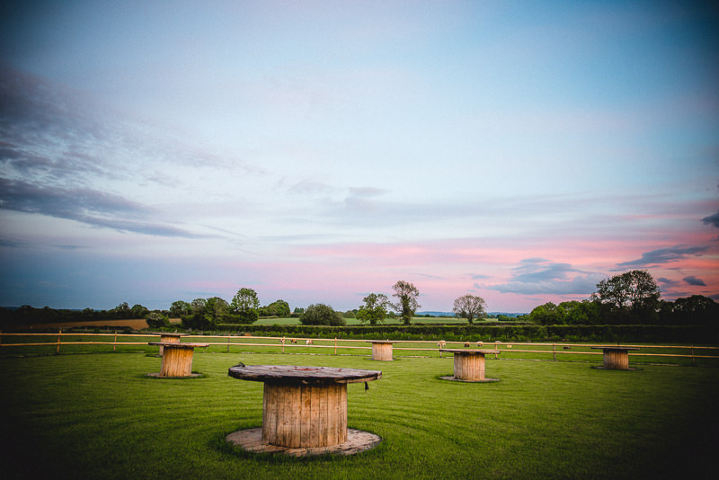 Old Oak Farm, Curry Rivel, Langport, Somerset. Wedding Sunset
