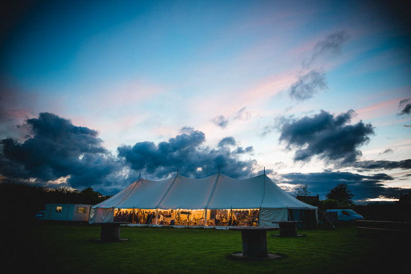 Wedding at Old Oak Farm, Curry Rivel, Langport, Somerset. Wedding Sunset