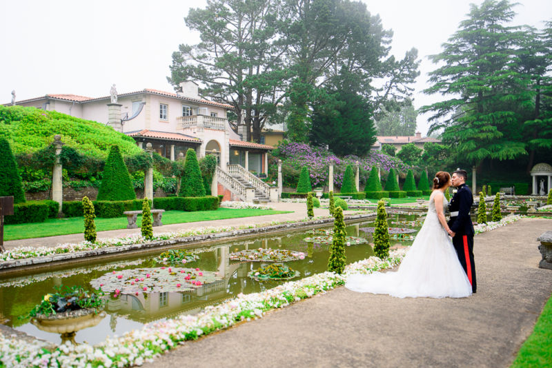 The Italian Villa Wedding Venue Poole Dorset With Bride and Groom