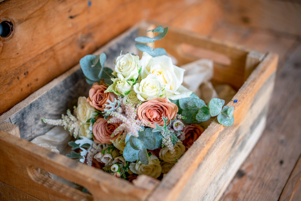 Beautiful muted colour flower bouquet